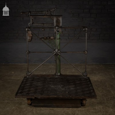 19th C Cast Iron Avery Grain Scales with Decorative Sack Plate