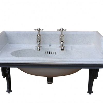 Late 19th Century Antique Marbleised Sink