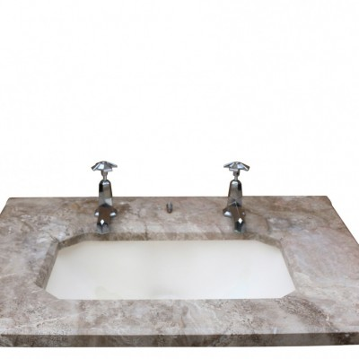 Art Deco Marble Topped Basin