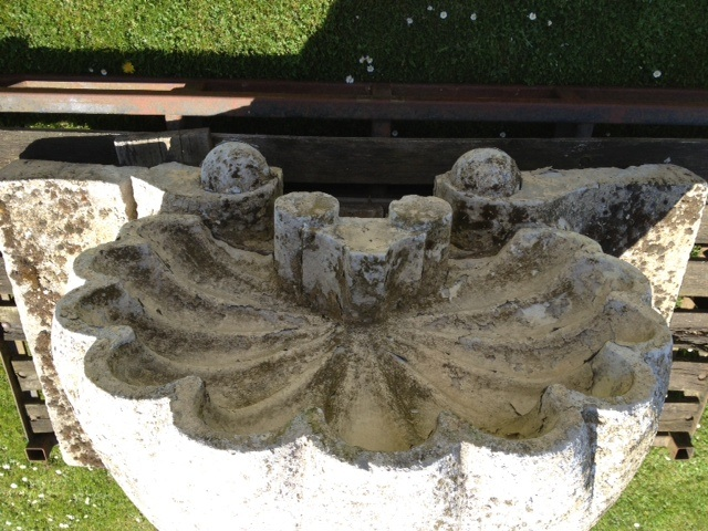 Large Carved Portland Stone  Shell