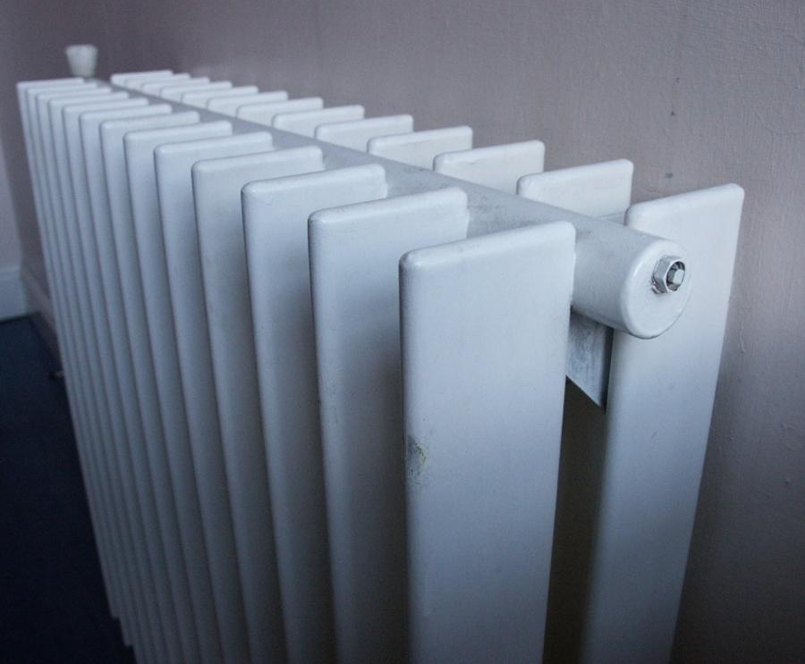 pair of stylish steel radiators