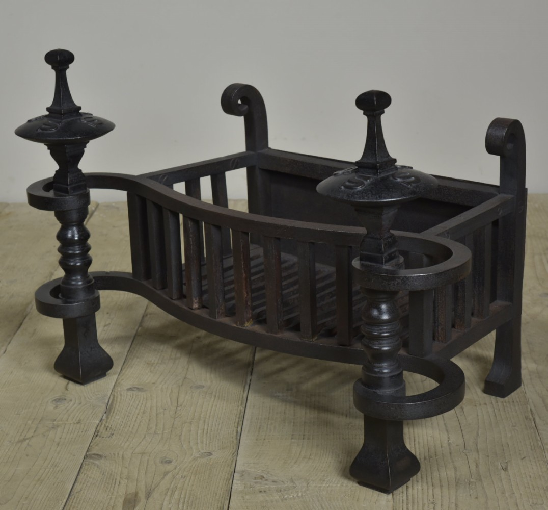 Serpentine antique firegrate