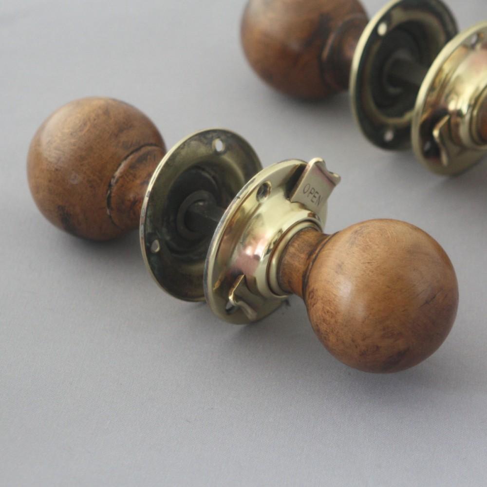 For Sale 1930s Locking Door Knobs- SalvoWEB UK