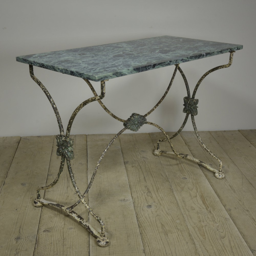 Antique 19th Century  Iron Garden Console Table