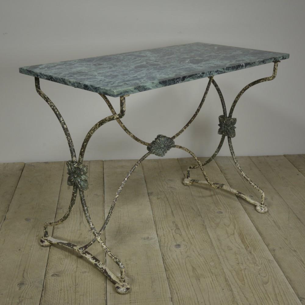 Antique 19th Century  Iron Garden Console Table