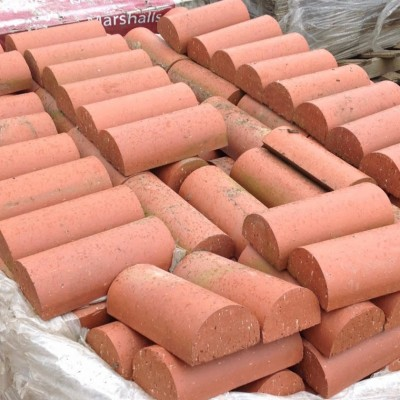 Solid Half Round Terracotta Colour Wall Capping