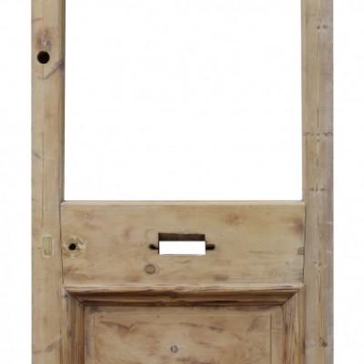 19th Century Stripped Pine Exterior/ Front Door