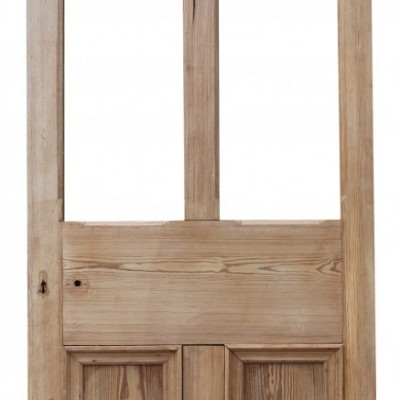 19th Century Stripped Pine Exterior/ Front Door