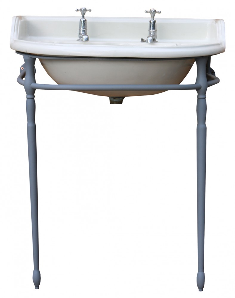 Antique Victorian Basin On Stand