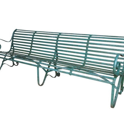 Antique Garden Large Iron Outdoor Bench