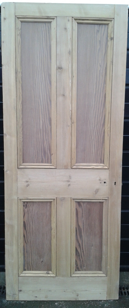 Set of 9 Victorian 4 panel pine doors