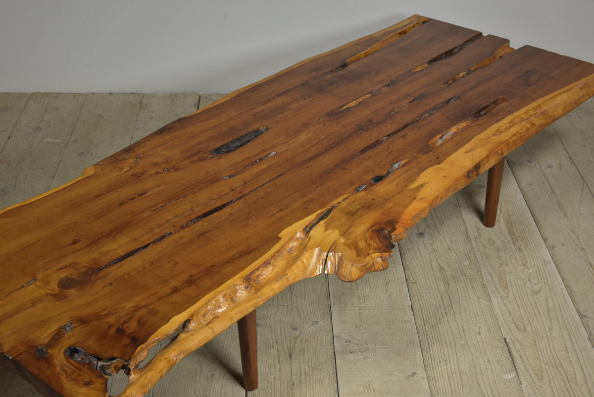 Large Mid Century Yew Coffee Table