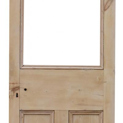 Half Glazed Interior Stripped Pine Door