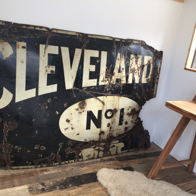 Metal Enamel Advertising Sign  - Cleveland Number 1