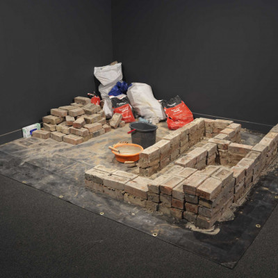 LRBM reclaimed bricks are on display at the Imperial War Museum
