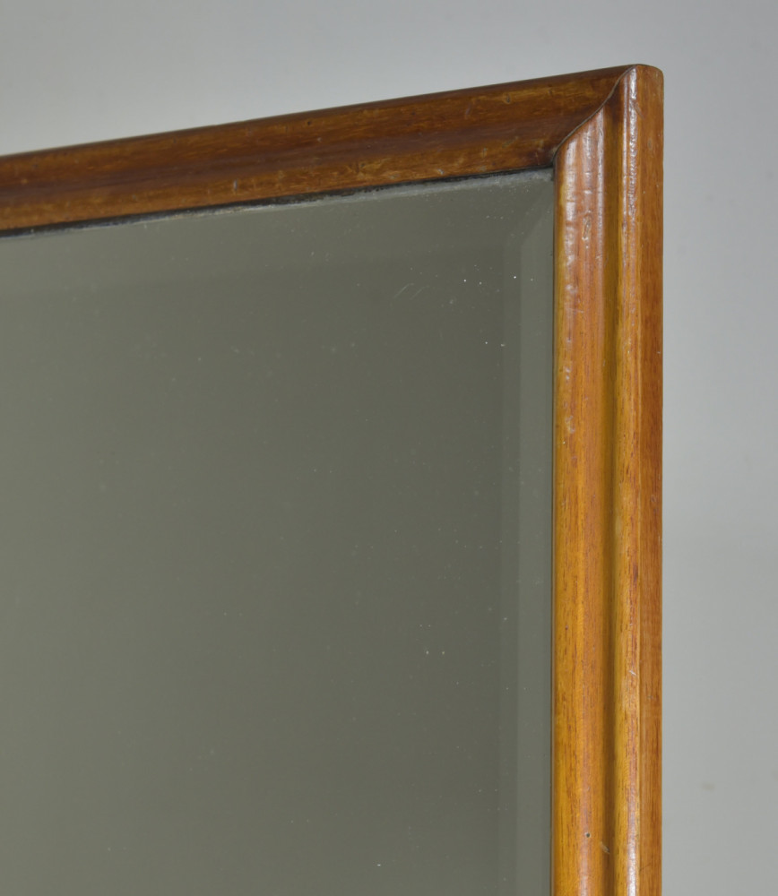 Large Antique Mahogany Shop Mirror