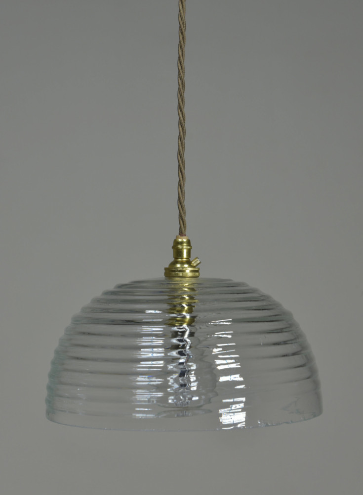 Antique Beehive Glass Pendant Shade