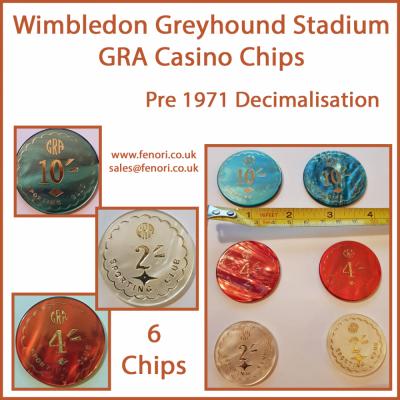 GRA Casino Chips from Wimbledon Greyhound Stadium