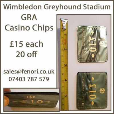 GRA £10 denomination Casino Chips from #Wimbledon #Greyhound