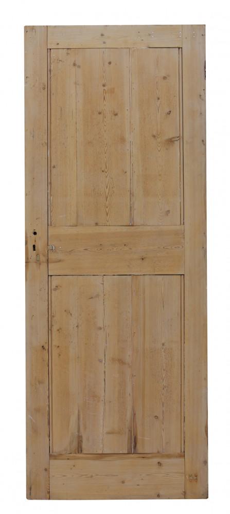 19th Century Exterior Pine Front Door