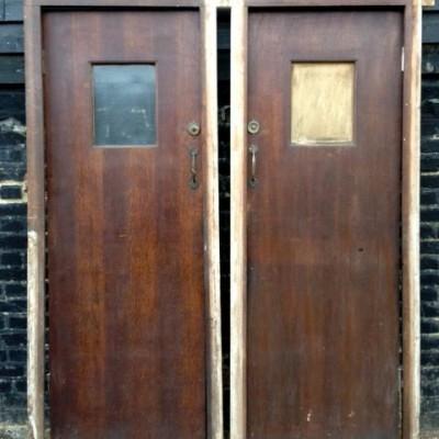 Mid-Century Oak Cubicle Doors