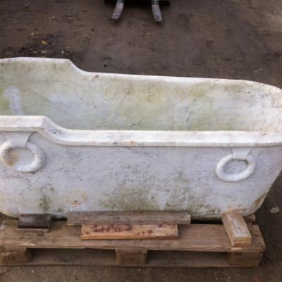 Really old Carrara marble bathtub - big discount