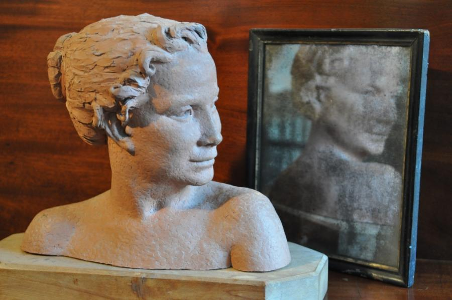 terra cotta bust by Virginia Venning
