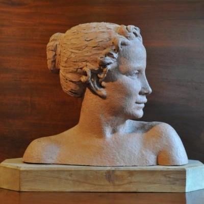 terra cotta bust by Virginia Venning