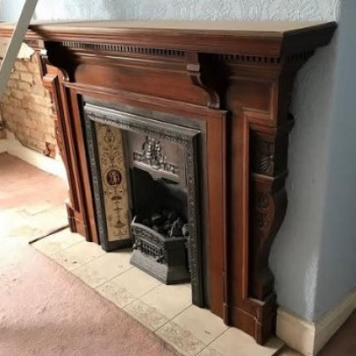 Original Fireplace 1894 with insert