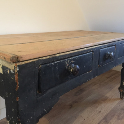 Victorian Pine Kitchen Dairy Table