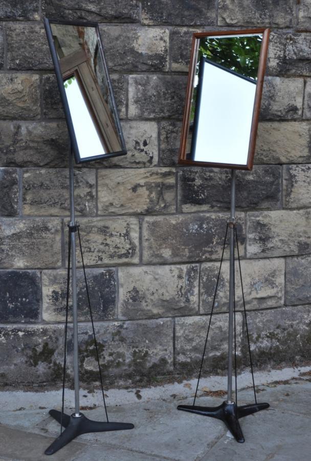 Elegant antique opticians mirror on stand - cheval alternative 2