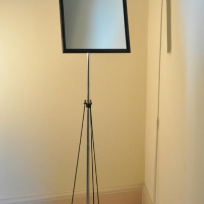 Elegant antique opticians mirror on stand - cheval alternative 2