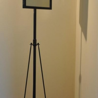 Elegant antique opticians mirror on stand - cheval alternative 3