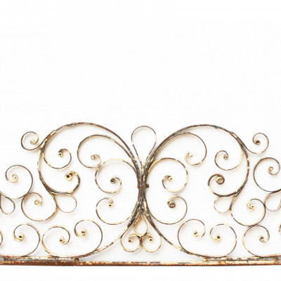19th Century French Wrought Iron Gate Overthrow