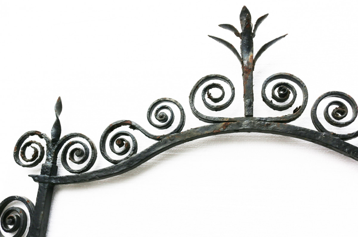 19th Century English Wrought Iron Pub Sign Frame /bracket