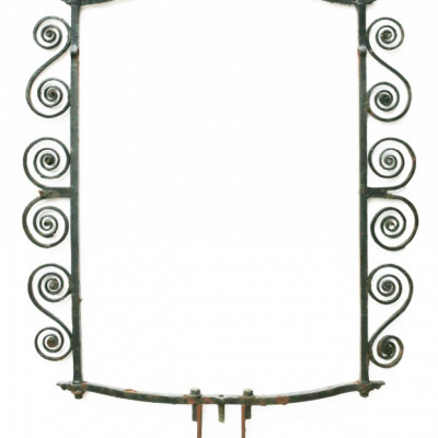 19th Century English Wrought Iron Pub Sign Frame /bracket