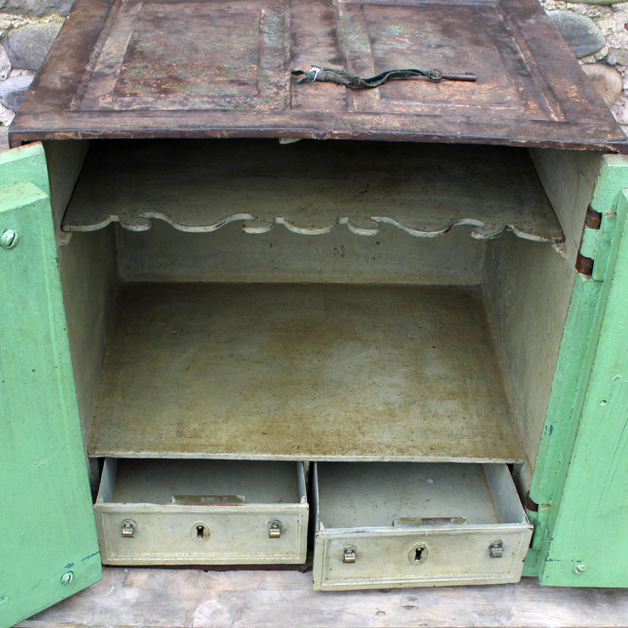Georgian cast iron safe