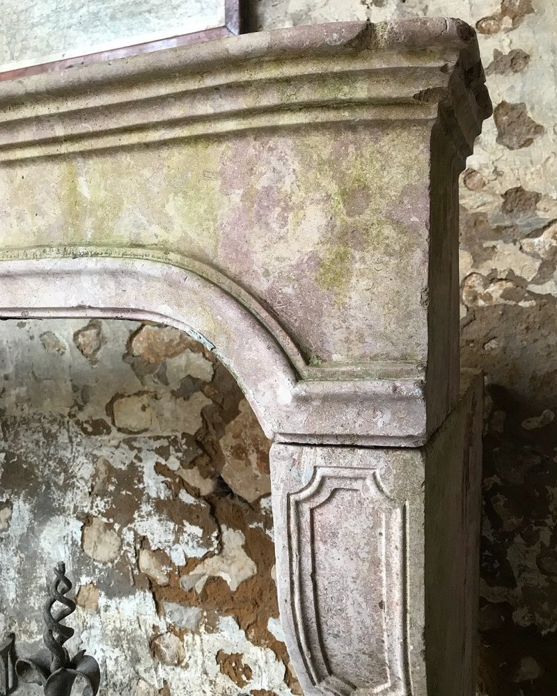Antique LXIV Stone Fireplace