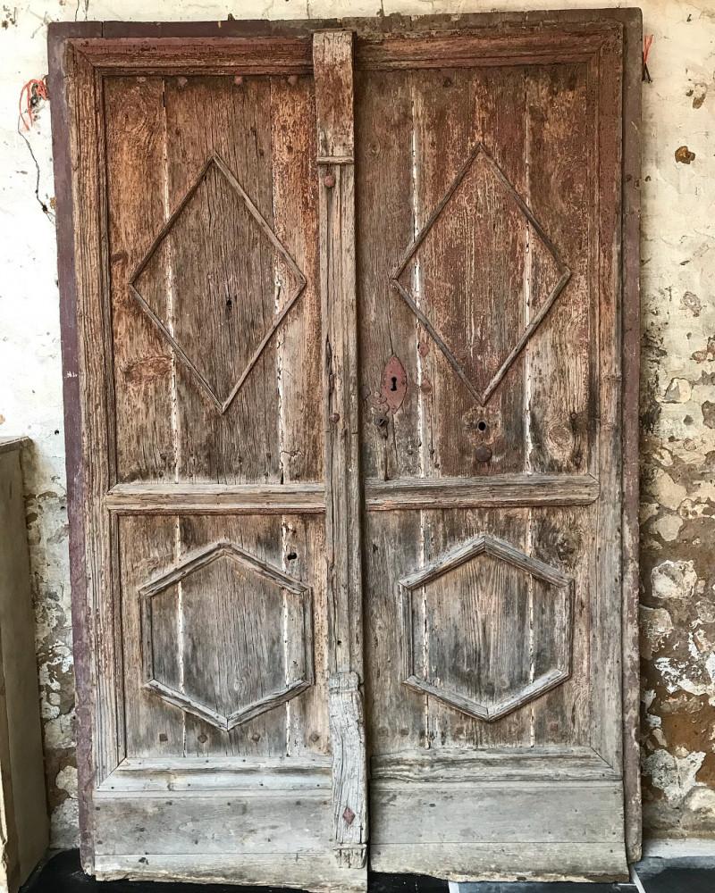 Pair Of 17th Century Antique French Doors Wharton Antique