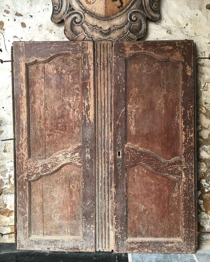 Pair of 18th Century French Cupboard Doors
