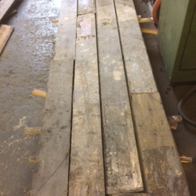 "reclaimed victorian floorboards 5 1/2"" wide and 3/4"" thick"