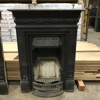 Pair of Cast Iron Bedroom Fireplaces
