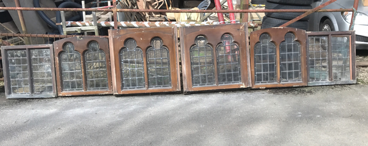 Georgian Palladian leaded glass windows