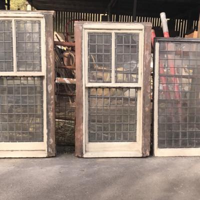 Boxed sliding sash lead windows