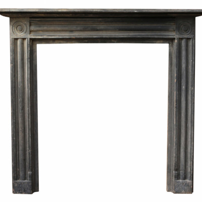 Georgian Painted Pine Bulls Eye Fire Surround