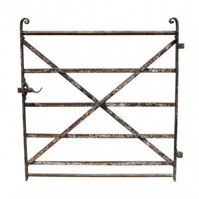A mid-19th C wrought iron strap work side gate