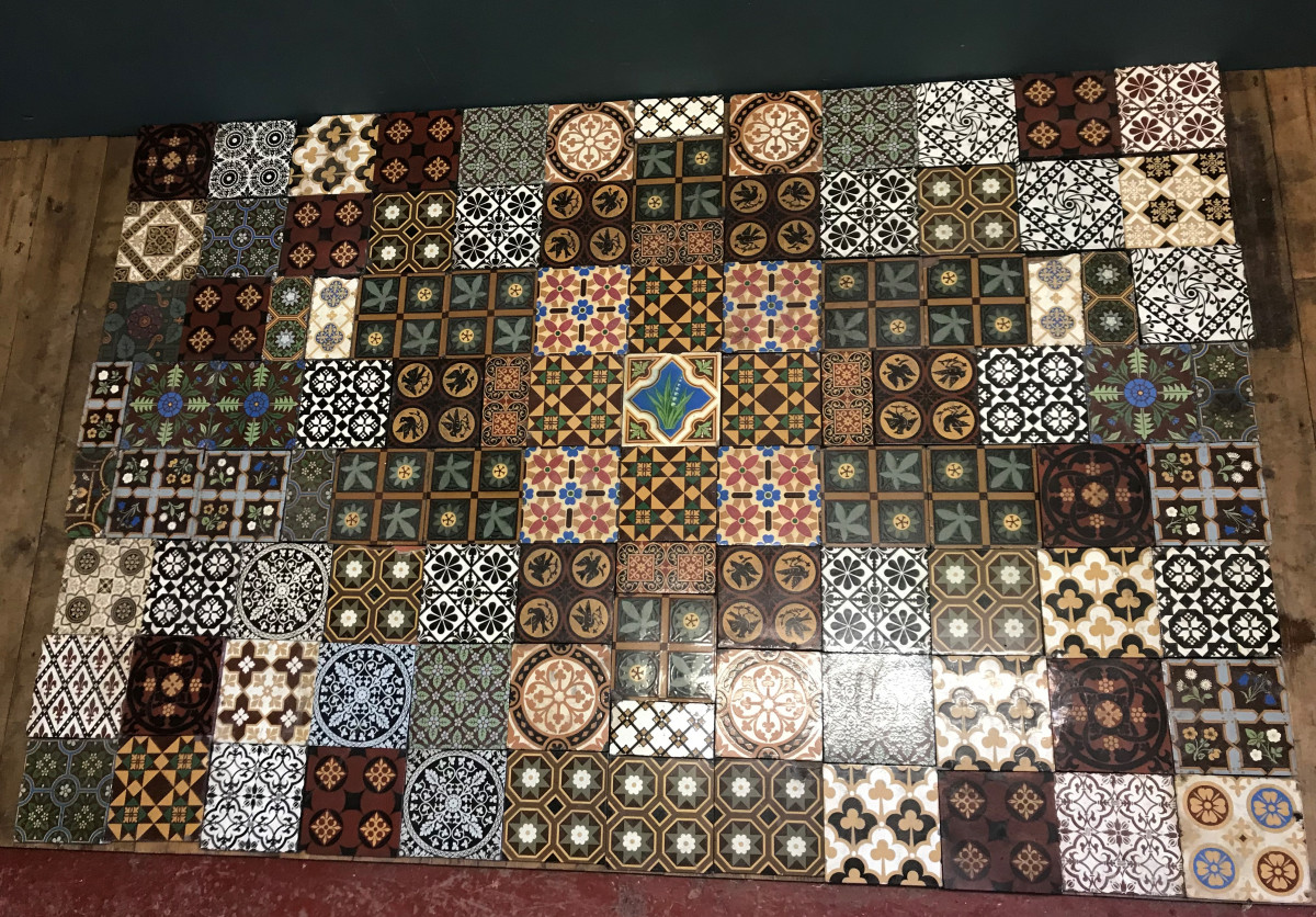 For Sale Original Glazed Minton Encaustic Floor Tiles Salvoweb Uk