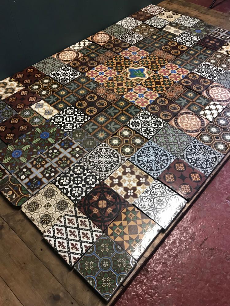 For Sale Original Glazed Minton Encaustic Floor Tiles Salvoweb Uk