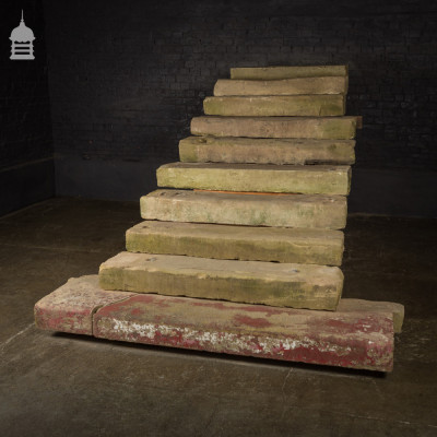 Set of 10 Reclaimed Sandstone Steps Treads from a Georgian Property