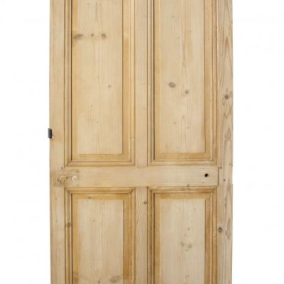 An Antique French pine four panel door